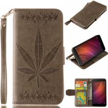 Maple Leaf Pattern For Xiaomi Redmi Note 4 Case Magnetic Leather Protective Back Cover For Xiaomi Redmi Note 4 Prime Pro Cases