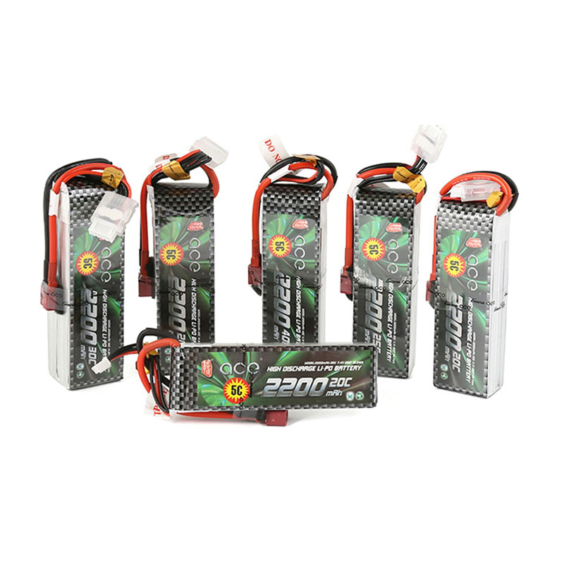 Gens Ace <font><b>Lipo</b></font> Battery 7.4V 11.1V <font><b>2200mAh</b></font> <font><b>Lipo</b></font> 2S <font><b>3S</b></font> 4S RC Quadcopter Deans Plug T Connector for Fixed Wing 450 Helicopter image