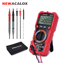 NEWACALOX NW118C NCV Digital Multimeter 6000 counts Auto Ranging AC/DC Voltage  Flash Light Back light Large Screen Temp Tester mastech ms8236 auto ranging digital multimeter lan tone phone detector cable tracker voltage tester