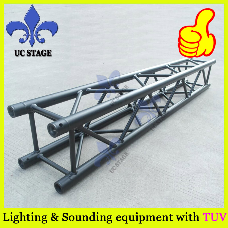 290mm aluminum stage truss structure/Event lighting spigot truss with black coated event
