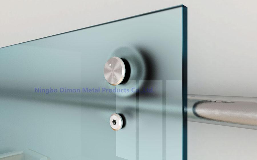 Dimon Stainless Steel Door Hardware Glass Sliding Hanging Wheel America Style