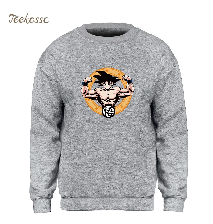 Anime Dragon Ball Sweatshirt Men Musclefitting Hoodie Super Saiyan Sweatshirts Fleece Harajuku Workout Fitness Gyms-Clothing