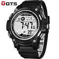 OTS digital-relógio Relógios Digitais homens esportes 50 M À Prova D' Água 55 MM grande dial horas militares Luminosos relógios de pulso 2017 moda