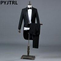 Jacket Pants Black And White Groom Mens Wedding Suit Classic Tuxedo