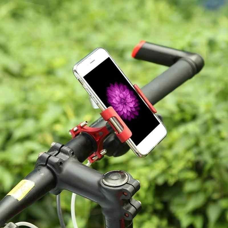 360 Вращающийся мотоцикл велосипед телефон владельца Стенд велосипедный Руль клип сплава Кронштейн держатель универсальный для 3,5-6,5 дюймов телефон z50