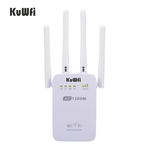 Image 1 - 1200 150mbps のワイヤレス無線 lan ブースタ中継エクステンダールータアクセスポイント 2.4 グラム/5 グラムデュアルバンド 4 と外部アンテナサポート wps