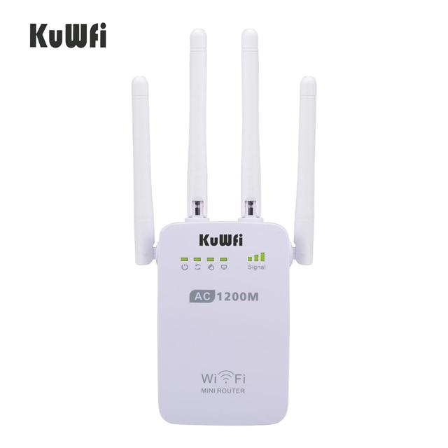 1200 150mbps のワイヤレス無線 lan ブースタ中継エクステンダールータアクセスポイント 2.4 グラム/5 グラムデュアルバンド 4 と外部アンテナサポート wps