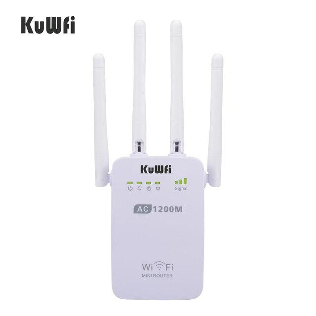 1200Mbps sans fil Wifi Booster répéteur Extender routeur Point daccès 2.4G/5G double bande avec 4 antennes externes Support WPS