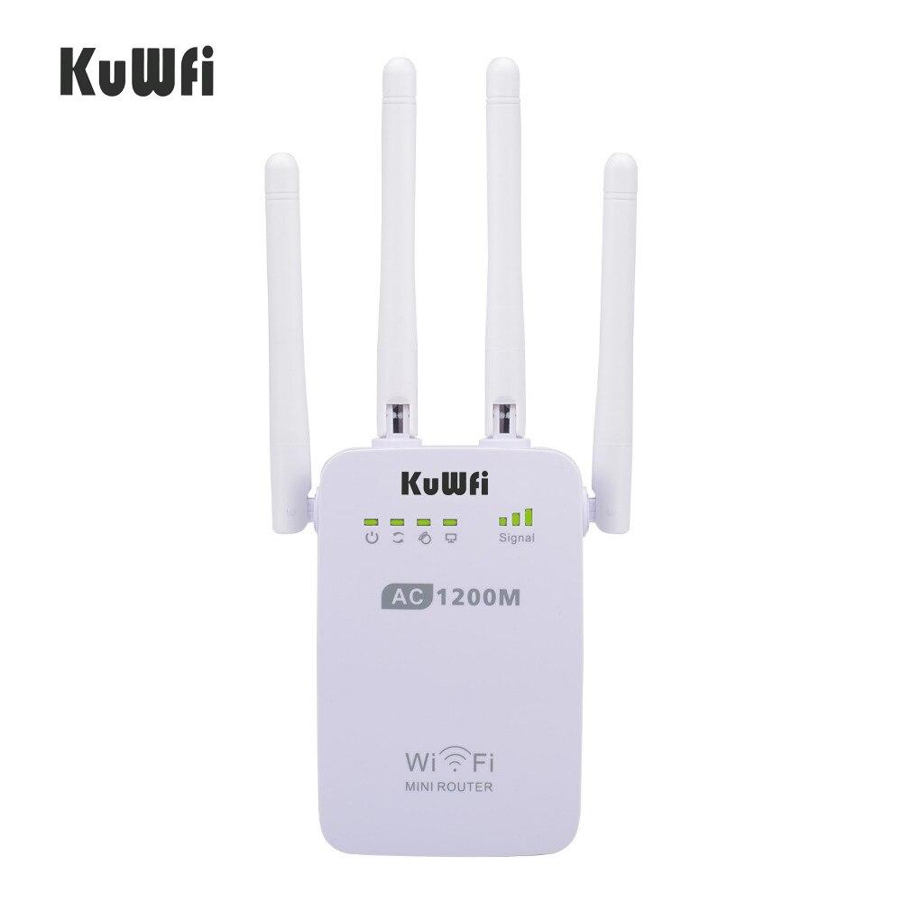 1200Mbps sans fil Wifi Booster répéteur Extender routeur Point d'accès 2.4G/5G double bande avec 4 antennes externes Support WPS