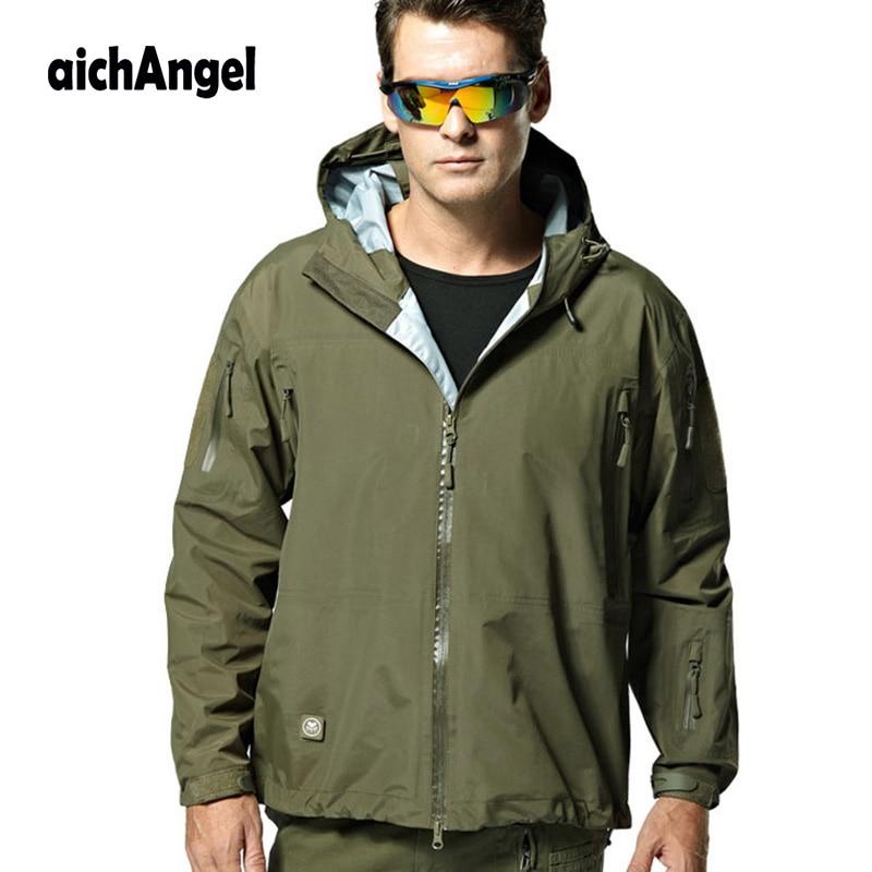 Erkek Kıyafeti'ten Ceketler'de AichAngeI Erkek ceket askeri giyim Taktik Dişli Hardshell Ceket Kamuflaj Ceket Su Geçirmez Rüzgar Geçirmez Ordu Kıyafetleri'da  Grup 1