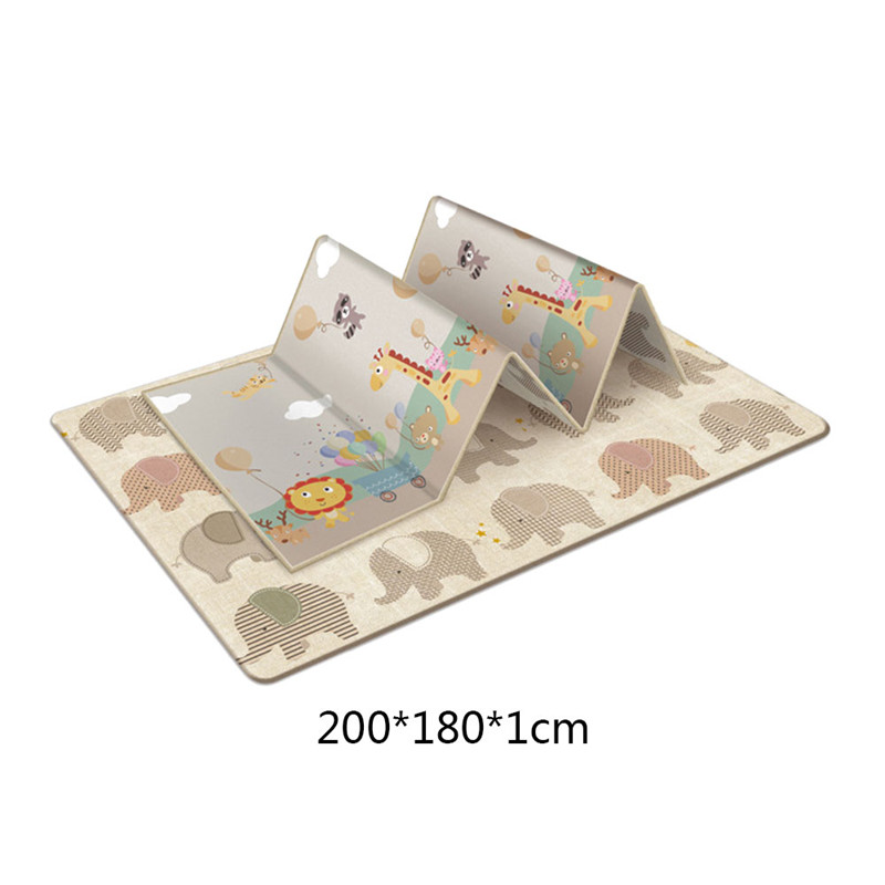 Tapis de jeu rampant antidérapant pliable pour enfants bébé écologique maison tapis Double face résistant à l'humidité sans odeur - 4