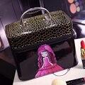 2017 Новое прибытие кожа PU макияж сумка женская мода большой емкости Красивая косметический случай коробка для хранения