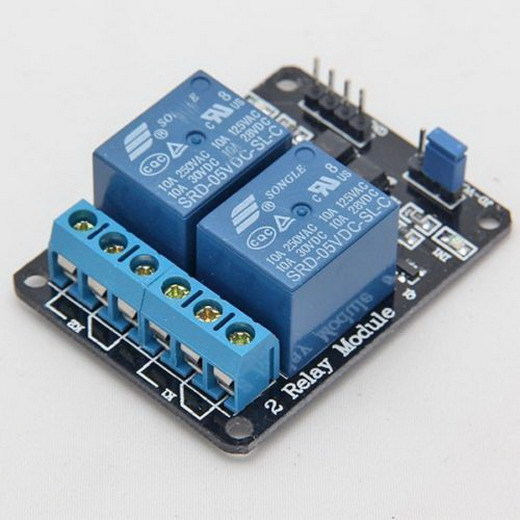 High Quality New 2 Channel 5V Relay Interface Board Controlled Directly By Microcontroller P0.05