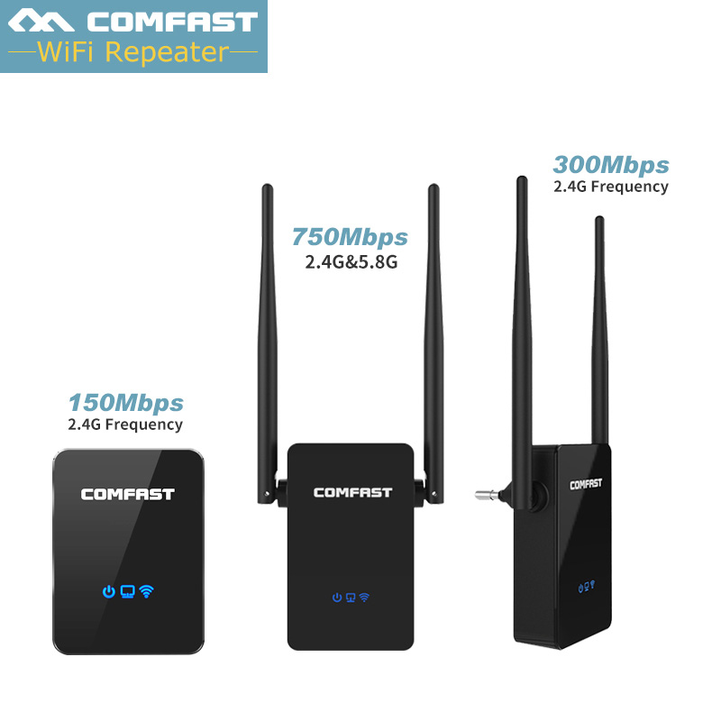 COMFAST Wifi Repeater 300mbps 750mbps 2.4G+5Ghz Dual Band WIFI Router Extender WIFI AP CF-WR750 ac WIFI Extender Repeater router original huawei honor router standard version ws831 dual band wifi 2 4ghz 300mbps 5ghz 867mbps beamforming home smart router