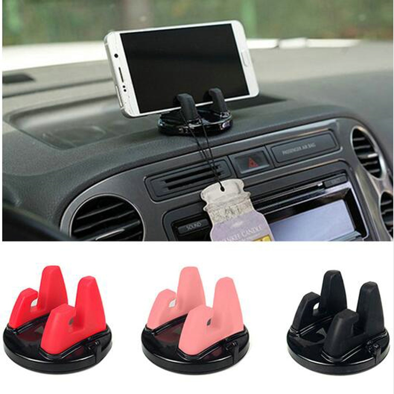 Car Ornament Universal Phone Holder 360 Degree Rotation PC + Silicone Dashboard Decoration For GPS Holder Cell Phone 75mmx45mm steering wheel phone holder