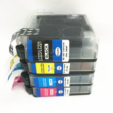 vilaxh LC233 LC221 Ink Cartridge For Brother LC 233 for Brother MFC-J4420DW DCP-J4120DW MFC-J4620DW J5320DW J5720DW 4625DW refillable cartridge chip resetter for brother lc223 lc203 lc213 lc233 empty cartridge for brother mfc j4420dw mfc j5320dw