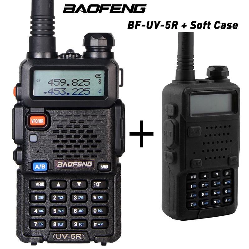 Портативная рация Baofeng UV 5R uv5r, двухсторонняя радиос128ch Двухдиапазонная VHF/UHF 136 174/400 520 МГц приемопередатчик + мягкий чехол walkie talkie baofeng uv-5rdual band   АлиЭкспресс