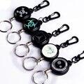 TAD Steel Rope Burglar Tool Belt Money Retractable Key Recoil Ring Pull Chain Clip Keychain key Chain Chaveiros