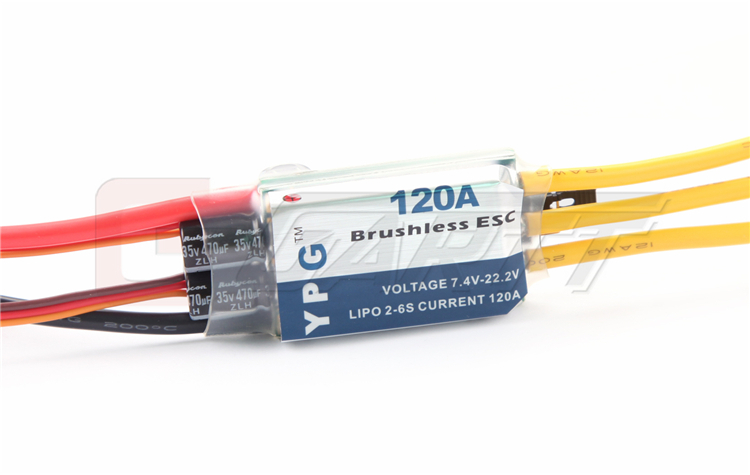YPG LV-120A brushless ESC High Quality Free shipping 30a esc welding plug brushless electric speed control 4v 16v voltage