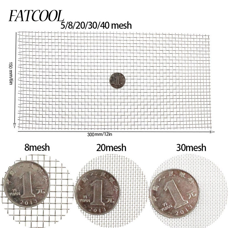 FATCOOL 1pc Woven Wire 5/8/20/30/40 Mesh High Quality Stainless Steel Screening Filter Shee
