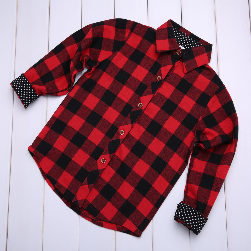 cospot mom and daughter christmas shirt mother and girl cotton red plaid matching blouse family fashion christmas shirt 2018 d25 in matching family outfits - Christmas Plaid Shirt