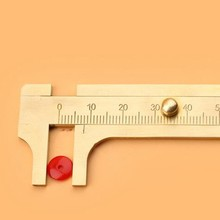Hot Selling Useful Promotion Mini Solid Brass Sliding Gauge Vernier Caliper 80mm 3.15Inch Jewelry Measuring