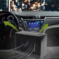 dc 12v 1 Cooler מזגן רכב 60W מתכווננת Pc DC 12V קירור מצנן אויר קרח מים מאוורר נייד (4)
