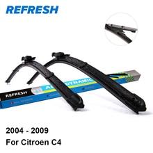 Обновления стеклоочистителей для Citroen C4 28 «и 24» Fit щепотка вкладке оружия 2004 2005 2006 2007 2008 2009