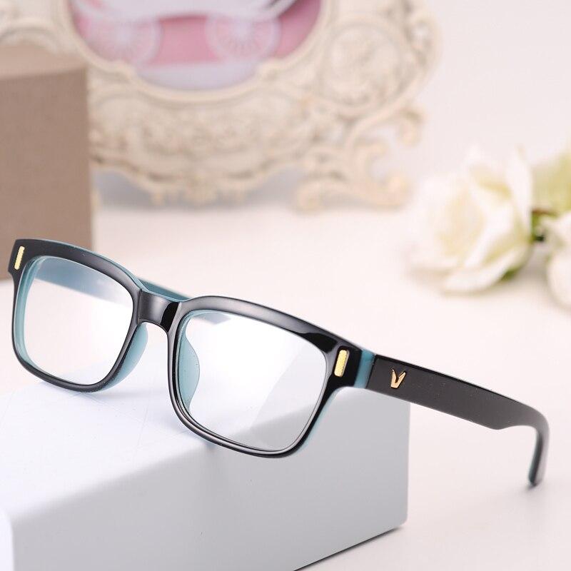 c4f174f59 V Em Forma de óculos de Armação Marca Armação de óculos Para As Mulheres  Homens Moda Óculos Ópticos Eyewear Armacao De Oculos De grau Femininos em  Armações ...