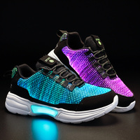 kids Led usb charging glowing Sneakers Children hook loop Fashion luminous shoes for girls boys men women skate shoes #27 46