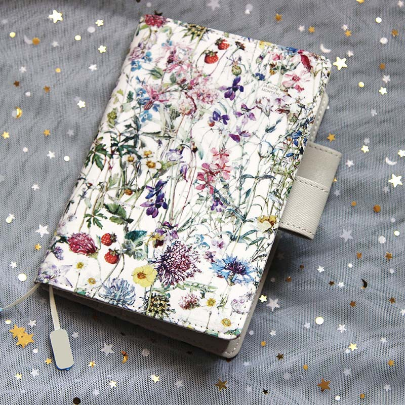 Blooming Flowers Theme Cloth Cover A5 A6 For Hobonichi Book 2018 Ceative DIY Journal Gift Free Shipping the universe mystery stars theme hobonichi fashion journal a5 a6 creative 2018 planner gift cool diary 128 sheets free shipping