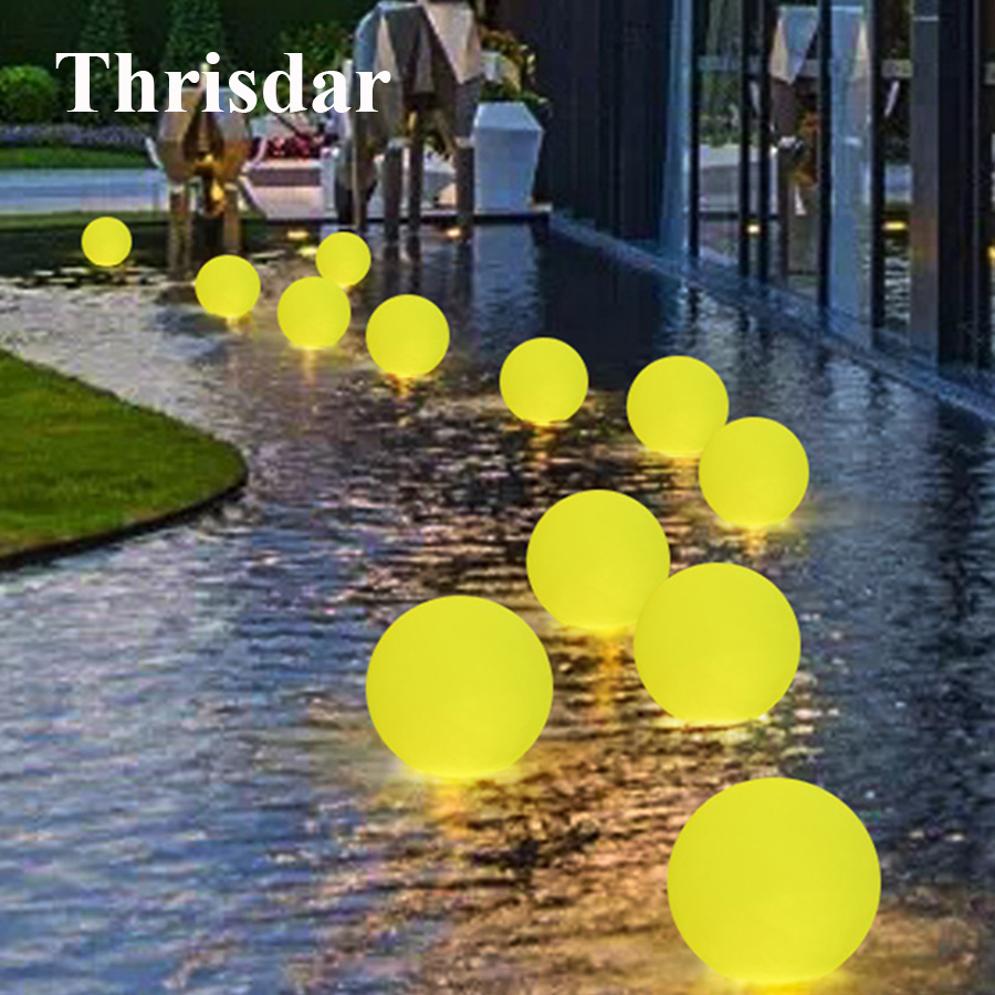 Thrisdar IP68 Water Floating Ball Light LED Fountain Swimming Pool Party Floating Ball Light Spa Bath Pond Aquarium LED Light [zob] berker brocade 75162773 double button panel eib knx lighting original authentic 2pcs lot