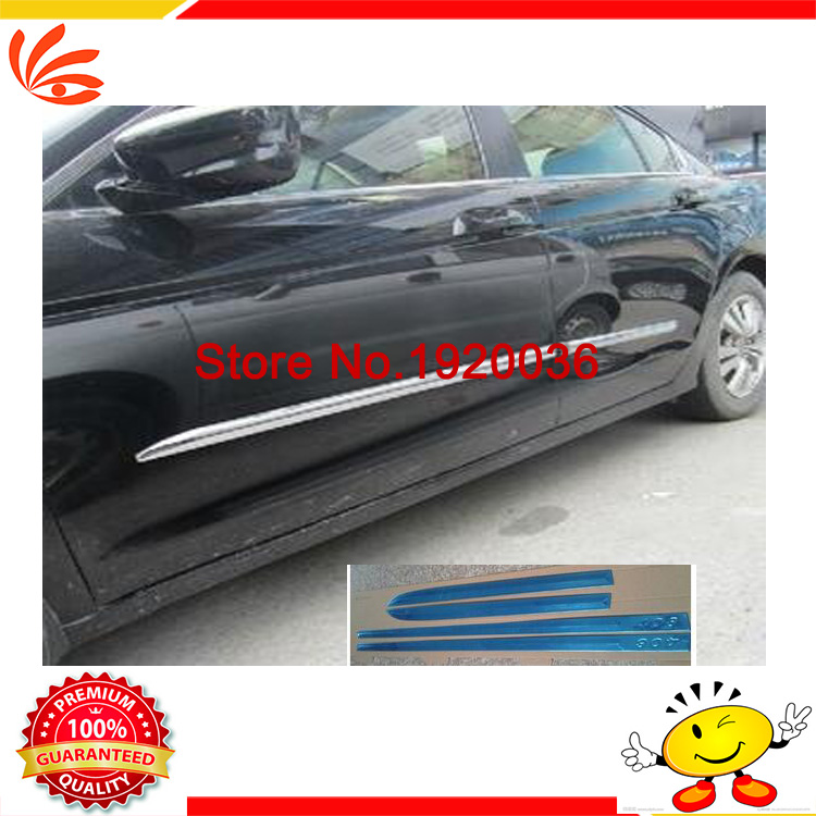 Car styling Chrome Body Side Door Trim Molding Exterior cover for Peugeot 408 2014 Door Side Molding Trim Side Door Trim 2 colors car styling protector side edge protection pad protected anti kick door mats cover for peugeot 3008 2014 2015 2016