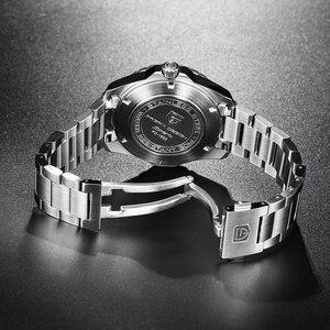 Image 4 - Pagani 기계식 자동 남성 시계 스포츠 블랙 패션 군사 방수 시계 남자 스틸 남성 손목 시계 relogio masculino