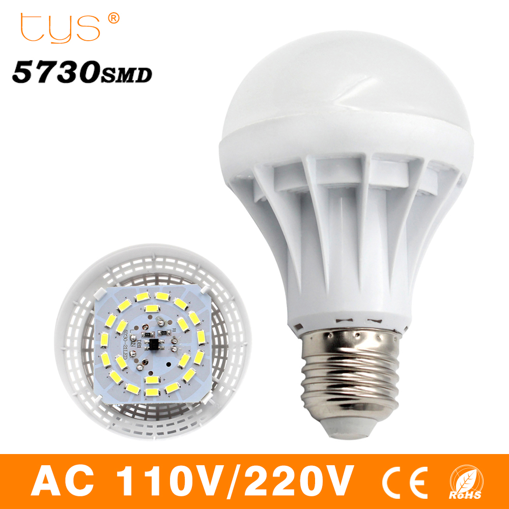 Lampada LED Lamp E27 220V 110V Bombillas Led Bulb Light SMD 5730 3W 5W 7W 9W 12W 15W Energy Saving Lamparas Led Spotlight White high power 12v led bulb smd 5730 portable led lamp outdoor camp tent night fishing hanging light lamparas 3w 5w 7w 9w 12w