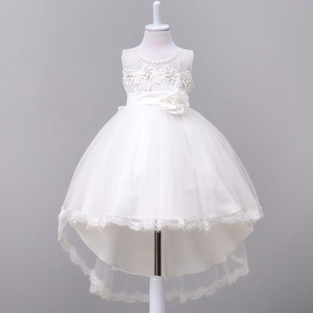 Online Shop Ad Beaded Girls Wedding Dresses Back Bow Girls Party