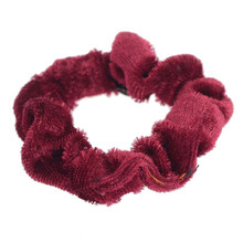 1pc Multicolor Velvet Fabric Scrunchies Hairband Hair Tie Scrunchie Ponytail Holder Hair Accessories For Women Headwear 1 55 ponytail
