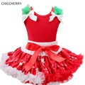 Red Baby Girl Clothes Christmas Costume Lace Tutu Skirts Top Girls Clothing Sets Conjunto Infantil Menina Kids Christmas Outfits