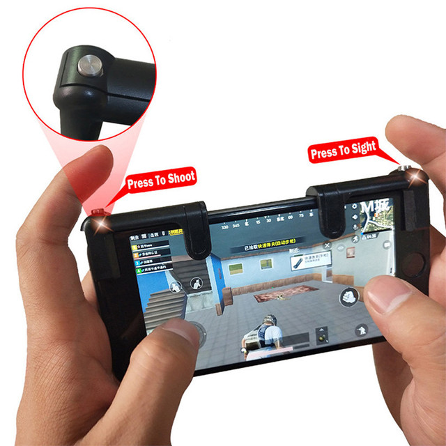 1 Pair K9 Black Gaming Joystick Trigger Quick Fire Button Handle For Mobile Phone L1R1 Shooter Controller 80427 drop shipping