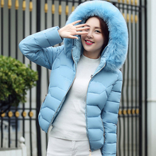 Winter Hooded Down Jacket Cotton Clothing 2016 Women s Fashion Slim Down Jacket Women s Leisure