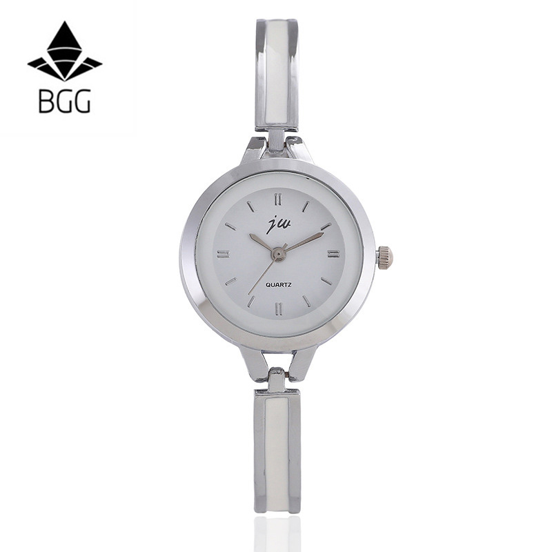 BGG Slim Strap Women Quartz Watch Steel Strap Small Dial style Casual Quartz Watch Ladies Popular Elegant Clock Relogio Feminino bgg brand creative two turntables dial women men watch stainless mesh boy girl casual quartz watch students watch relogio