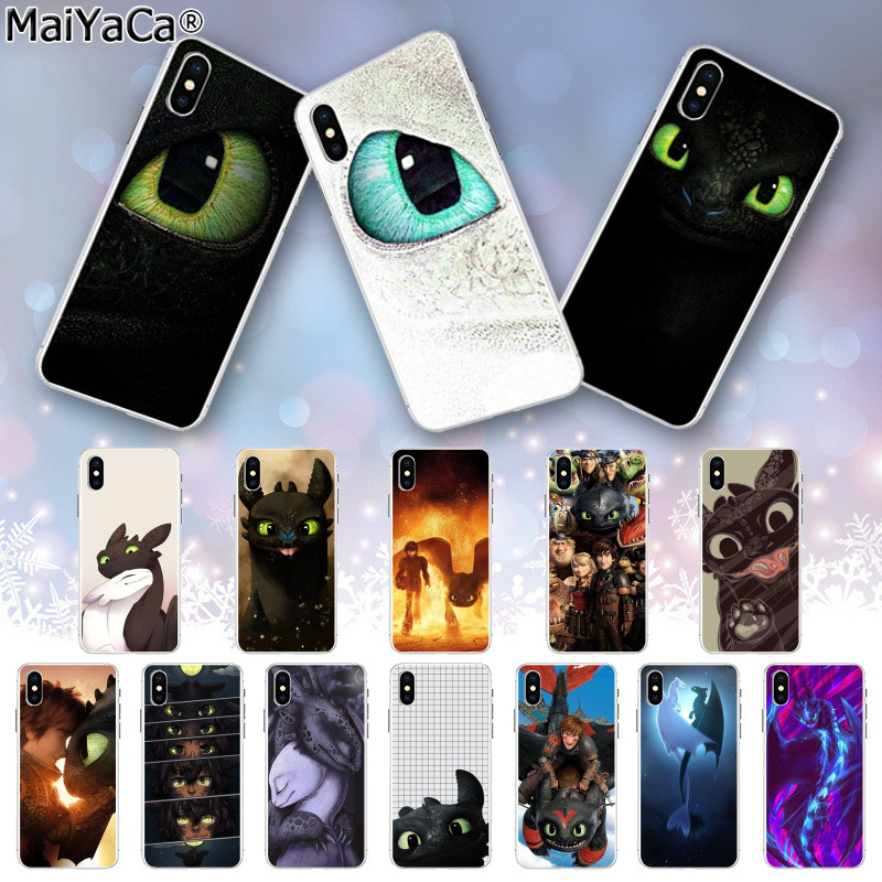MaiYaCa Toothless How To Train Your Dragon DIY Painted Beautiful Phone Case for iphone 11 pro 8 7 66S Plus X XS MAX 5S SE XR