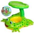 Assento com Sombrinha PVC Piscina Inflável Criança bebê Swim Float Float Anel Frog Design