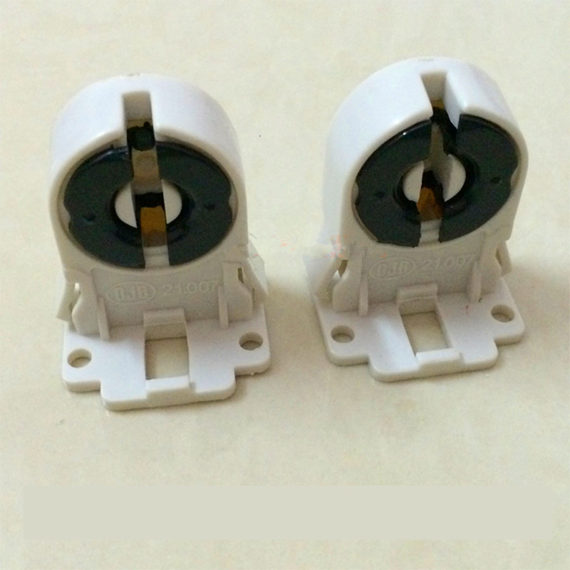 T8 Fluorescent Lighting Socket Lamp Holder T5 Tube Lamp Base Socket  G13 Plastic Holder Suitable For T8 Bracket Lamp