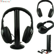 Big sale 2017 Superior Quality Mosunx 5IN1 Wireless Headphone Casque Audio Sans Fil Ecouteur Hi-Fi Radio FM TV MP3 MP4 AU19