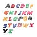 26 PCS Colorido ABC Alfabeto Imã de Geladeira Adesivo Plástico Aprendizagem Precoce Do Bebê Brinquedo Educativo