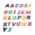 26PCS Colorful ABC Alphabet Magnet Fridge Sticker Plastic Early Baby Learning Educational Toy
