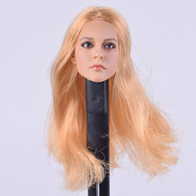 1/6 Scale KUMIK 13-12 Blonde Hair Female Korea Head Sculpts Model For 12 Inch Phicen Hot Toys Action Figures(China)
