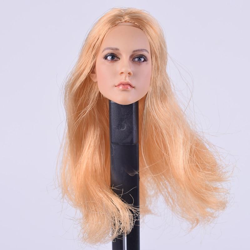 "KUMIK 16-84 1//6 Brown Hair Female Girl Head Sculpt F 12/"" PHICEN Figure Body Doll"