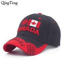 f77e127394e86 J'aime Canada Broderie baseball femmes Cap Drapeau Du Canada Chapeau  Snapback Réglable Mens Casquette